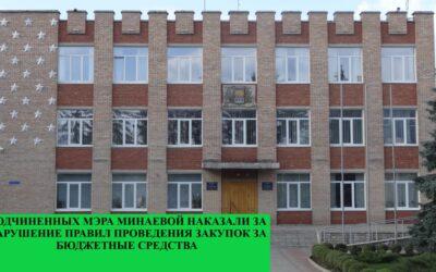 Подчиненных мэра Чугуева Минаевой наказали за нарушение правил проведения закупок за бюджетные средства